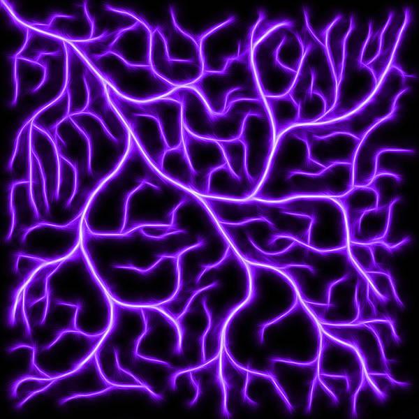 Digital Art - Lightning - Purple by Shane Bechler