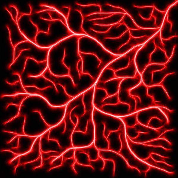 Digital Art - Lightning - Red by Shane Bechler