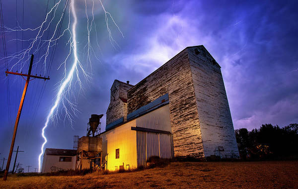 Wall Art - Photograph - Lightning Storm Canada by Mark Duffy