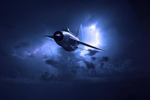 Digital Art - Lightning Storm by Gary Eason