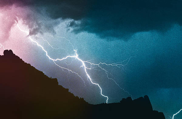 Photograph - Lightning Strike Bump In The Ridge by James BO Insogna