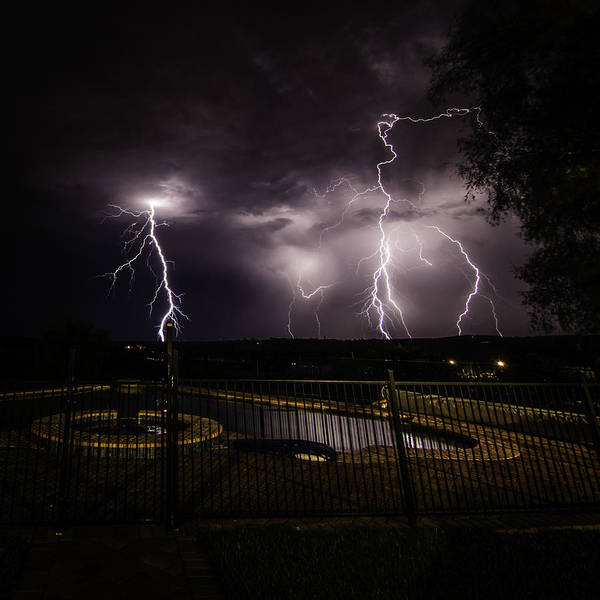 Photograph - Lightning Strikes by Chris Cousins