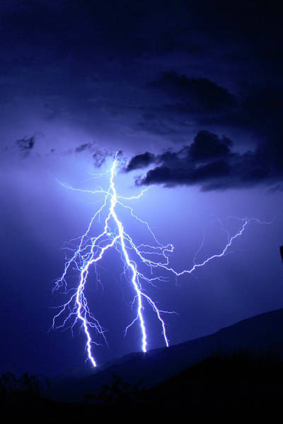 Photograph - Lightning Strikes Twice by Marie Leslie