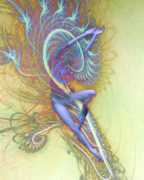 Female Nude Digital Art - Lightning Struck by Bear Welch