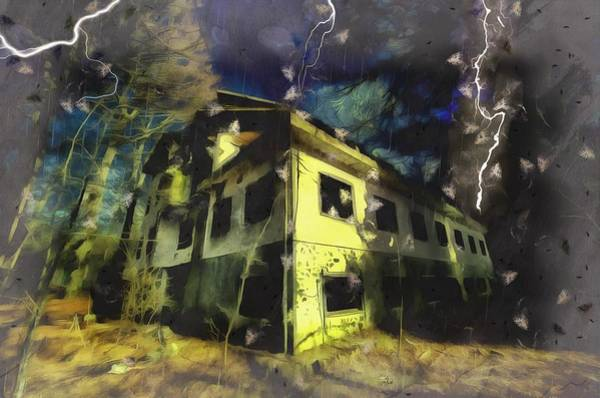 Photograph - Lightnings On The Abandoned Hotel On The Hw Mountains - Fulmini Su Hotel Abbandonato Sull'av by Enrico Pelos