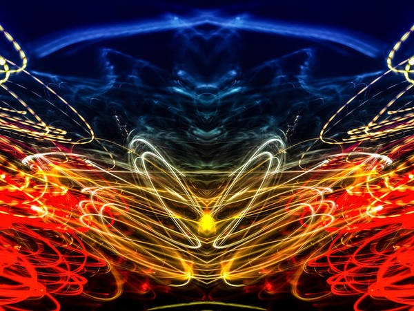 Photograph - Lightpainting Abstract Symmetry Ufa Prints #1 by John Williams
