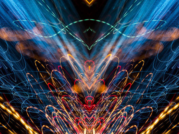 Photograph - Lightpainting Abstract Symmetry Ufa Prints #11 by John Williams