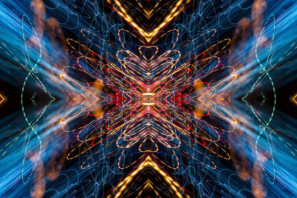 Photograph - Lightpainting Abstract Symmetry Ufa Prints #12 by John Williams