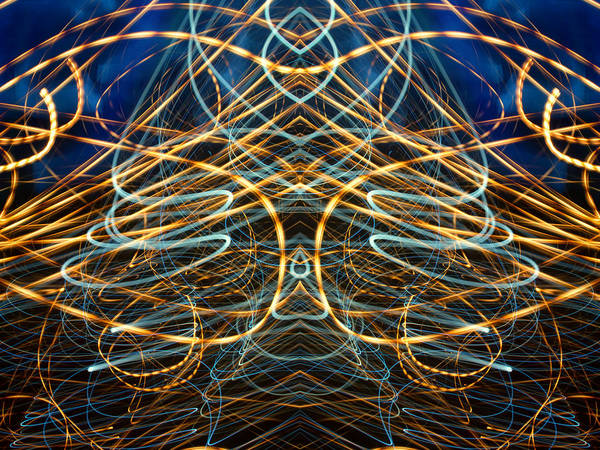 Photograph - Lightpainting Abstract Symmetry Ufa Prints #13 by John Williams