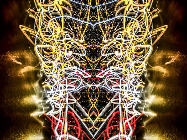 Photograph - Lightpainting Abstract Symmetry Ufa Prints #2 by John Williams