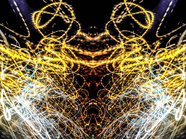 Photograph - Lightpainting Abstract Symmetry Ufa Prints #4 by John Williams