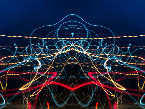 Photograph - Lightpainting Abstract Symmetry Ufa Prints #6 by John Williams