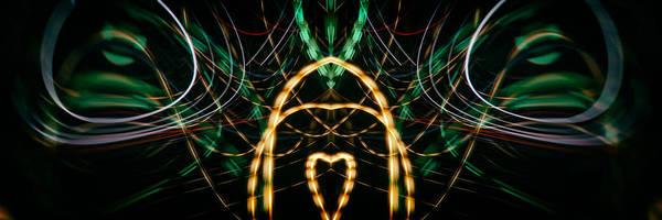 Photograph - Lightpainting Panorama Print Photograph 1 by John Williams