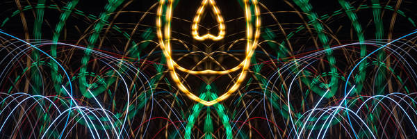 Photograph - Lightpainting Panorama Print Photograph 2 by John Williams