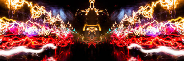 Photograph - Lightpainting Panorama Print Photograph 6 by John Williams