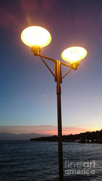 Photograph - Lights During Sunset by Heidi Sieber