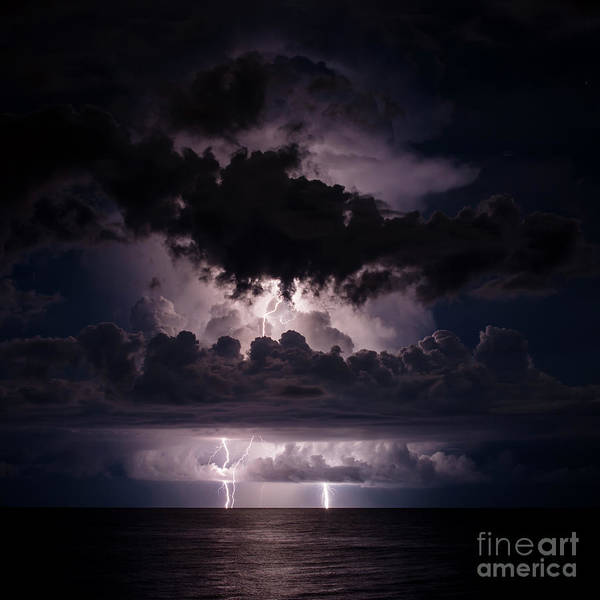 Electric Storm Photograph - Lights From Above by Quinn Sedam