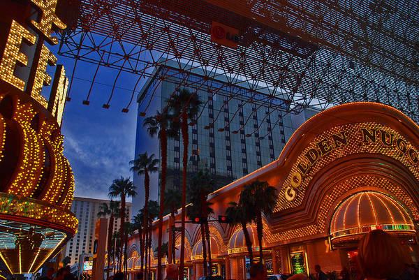 Photograph - Lights In Down Town Las Vegas by Susanne Van Hulst