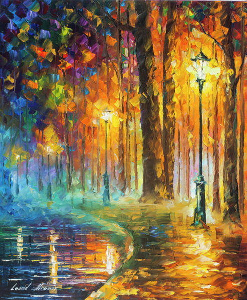 Wall Art - Painting - Lights by Leonid Afremov