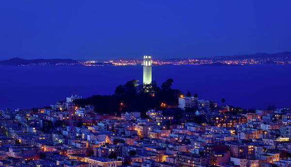Coit Tower Photograph - Lights Of Coit Tower by Mountain Dreams