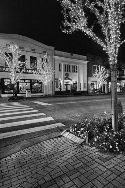 Photograph - Lights Of Fairhope Alabama Bw by Michael Thomas