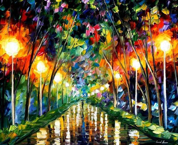 Afremov Painting - Lights Of Hope by Leonid Afremov