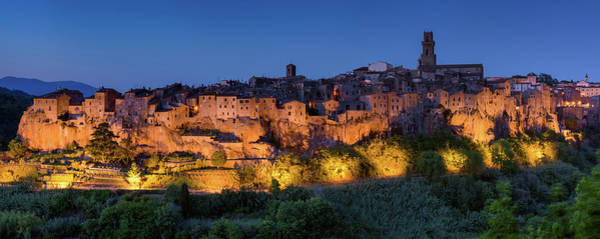 Photograph - Lights On Pitigliano by Michael Blanchette