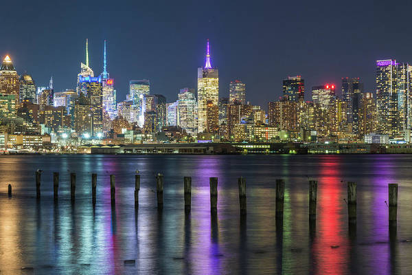 Photograph - Lights On The Hudson by Kristopher Schoenleber