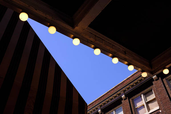 Lights Roofs And Triangles In Frederick Maryland Art Print