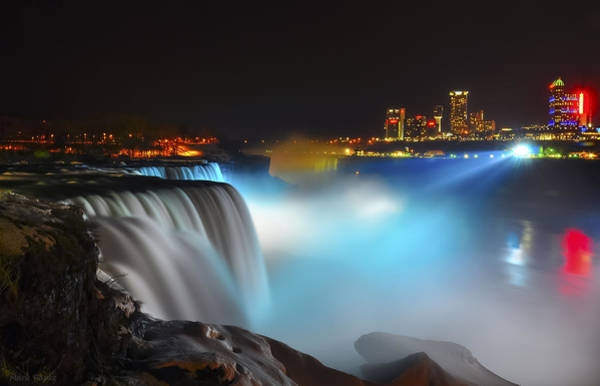 Niagara Falls State Park Photograph - Lightshow 2 by Mark Papke
