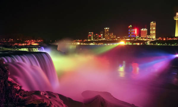 Niagara Falls State Park Photograph - Lightshow by Mark Papke