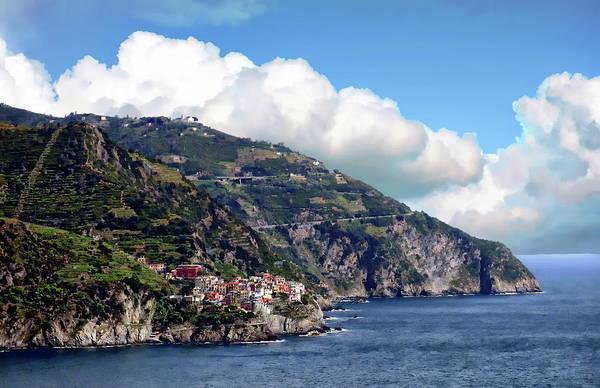 Photograph - Liguria Coastal View by Anthony Dezenzio
