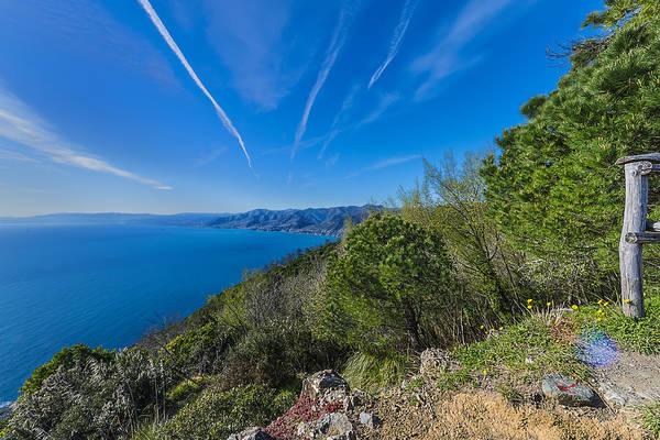 Photograph - Liguria Paradise Gulf Panorama by Enrico Pelos