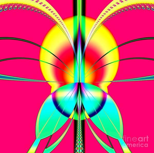 Digital Art - Like A Moth To A Flame Fractal by Rose Santuci-Sofranko