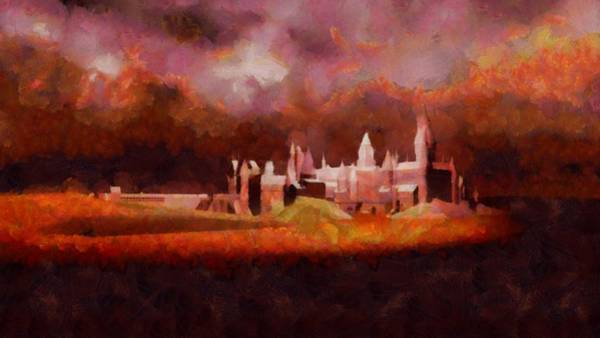 Strange Painting - Like Hogwarts by Esoterica Art Agency