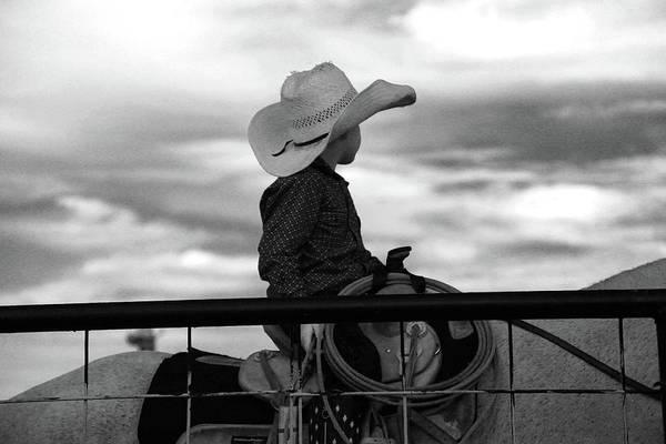 Wall Art - Photograph - Lil Cowboy Gonna Rope by Toni Hopper
