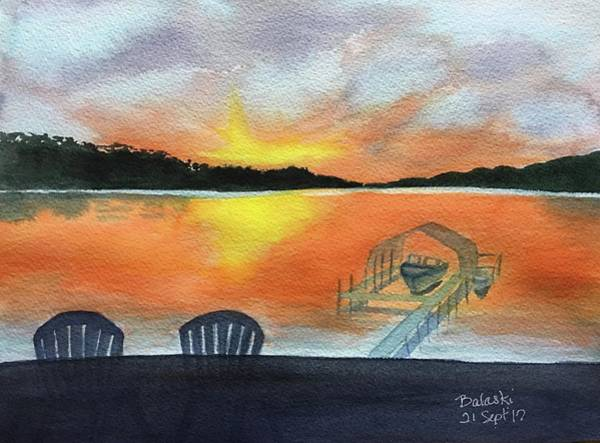 Adirondack Mountains Painting - Lil Eddie's On Lake Minnetonka by Belinda Balaski