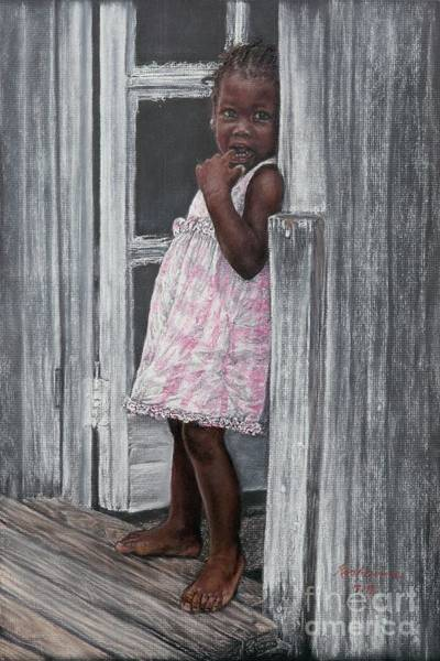 Painting - Lil' Girl In Pink by Roshanne Minnis-Eyma