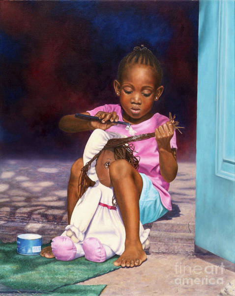 Painting - Lil Hairdresser by Nicole Minnis