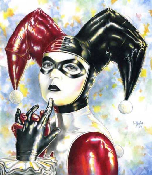 Harley Quinn Wall Art - Drawing - Lil Miss Homicidal by Paul Petro
