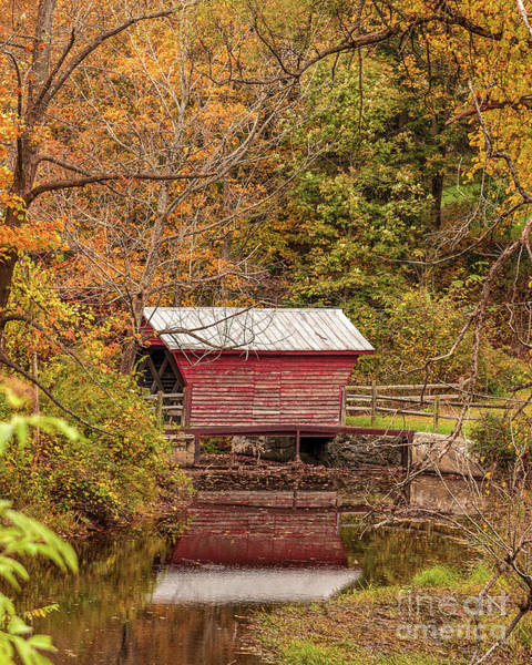 Photograph - Lil Red Bridge by Rod Best
