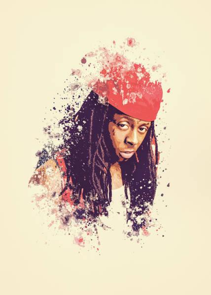 Hops Painting - Lil Wayne Splatter Painting by Milani P
