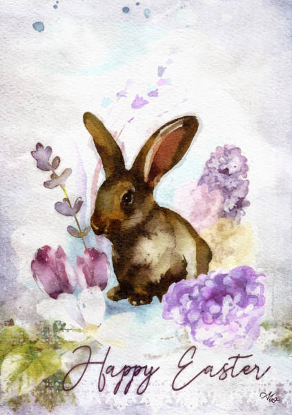 Wall Art - Painting - Lilac And Bunny by Mo T