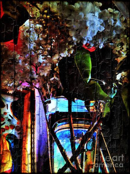 Mixed Media - Lilac Brimmed With Dew by Jolanta Anna Karolska