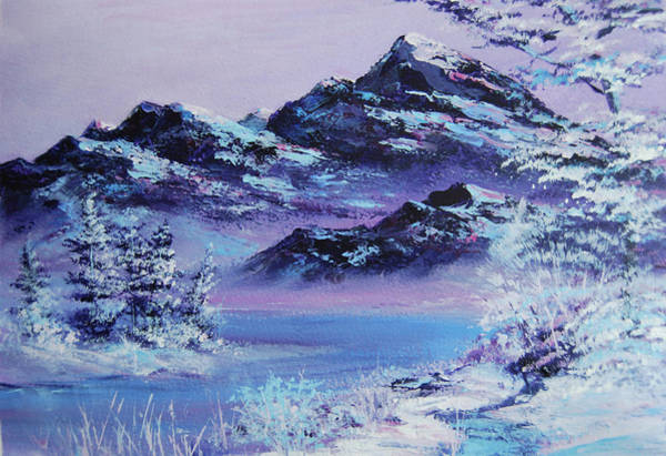 Wall Art - Painting - Lilac River Bend by Julie Nash