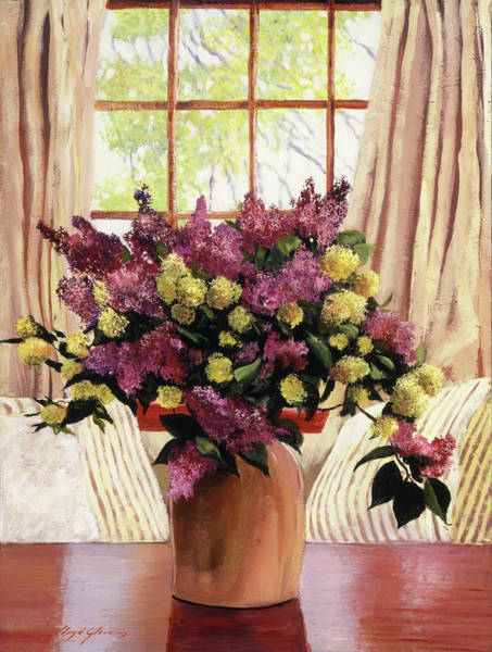 Painting -  Lilac Vase by David Lloyd Glover