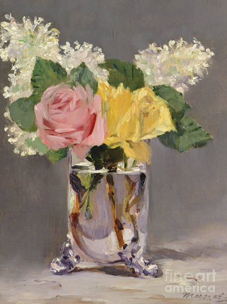 Lilac Painting - Lilacs And Roses by Edouard Manet