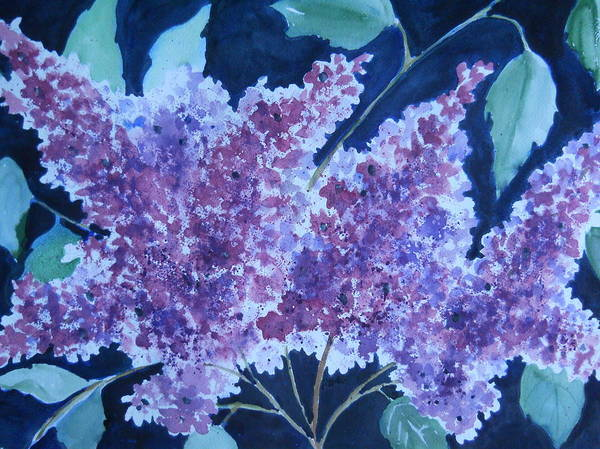 Painting - Lilacs by Audrey Bunchkowski