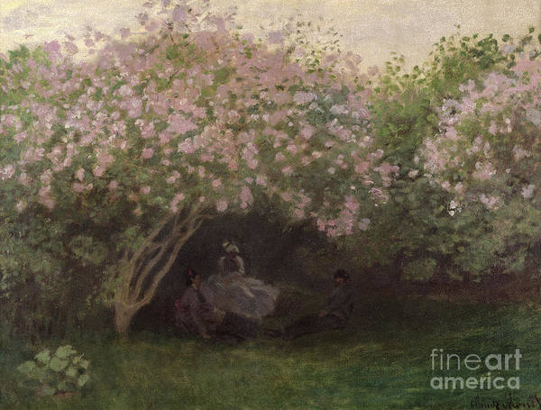 Shade Garden Wall Art - Painting - Lilacs by Claude Monet