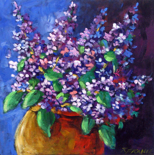 Canadiens Painting - Lilacs by Richard T Pranke